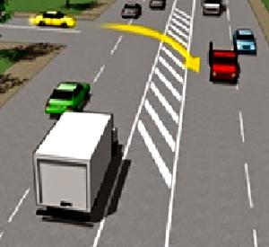 เลี้ยวซ้ายแล้วกลับรถที่จุดกลับรถ