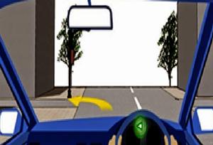 ก. ลดความเร็ว และระมัดระวังรถด้านซ้าย รวมทั้งคนเดิมข้ามถนน