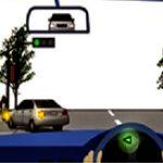ข. เปิดสัญญาณไฟเลี้ยว ชะลอรถ หยุดให้คนเดินถนนข้ามทางก่อน