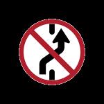 ห้ามเปลี่ยนช่องเดินรถไปทางขวา