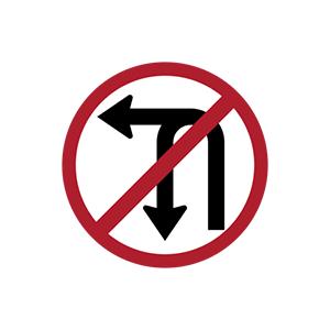 ป้ายห้ามเลี้ยวซ้ายหรือกลับรถ