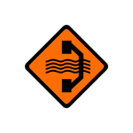 ขับรถให้ช้าลง และเพิ่มความระมัดระวัง ทางข้างหน้าต้องใช้ทางเบี่ยงด้านขวา