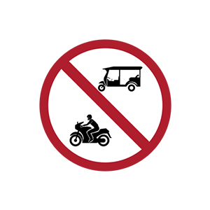 ป้ายห้ามรถจักรยานยนต์และรถยนต์สามล้อ