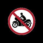 ป้ายห้ามรถจักรยานยนต์