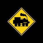 ป้ายเตือนทางข้ามทางรถไฟไม่มีเครื่องกั้นทาง