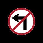 ป้ายห้ามเลี้ยวซ้าย