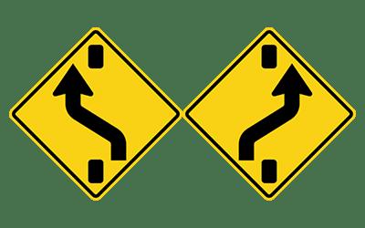เปลี่ยนช่องเดินรถตามสัญลักษณ์ในป้าย